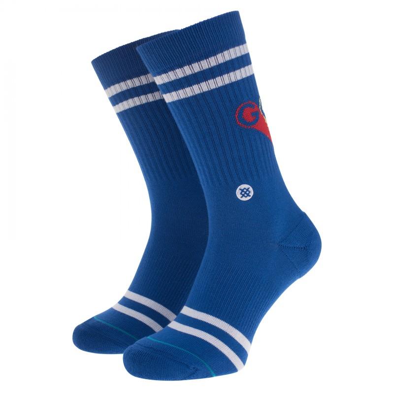 """Stance Socken Blau mit """"Good Vibes""""-Schriftzug"""