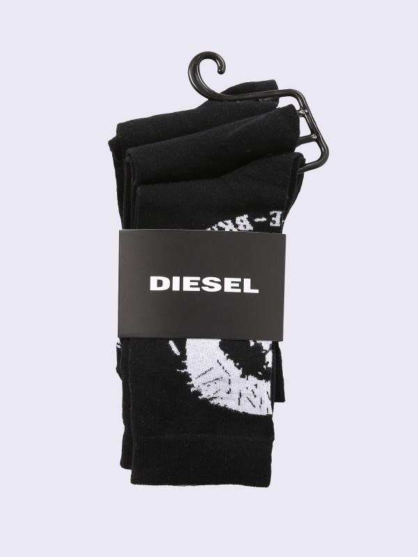 Diesel 3-er Set Socken Schwarz mit Indianerkopf
