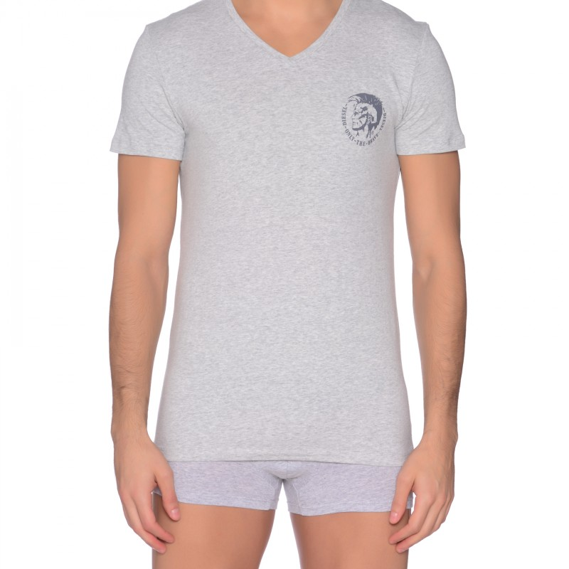 Diesel V-Neck T-Shirt, grau